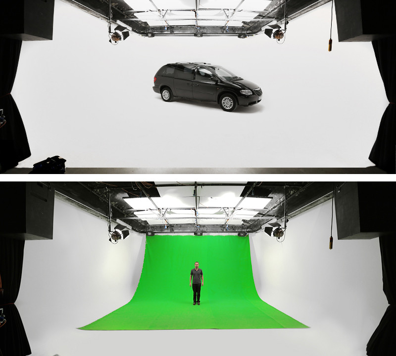 Studio 1 Green Screen and white