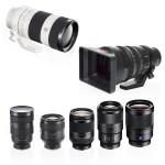 sony e mount lens hire