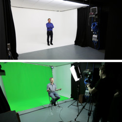 Studio 2 Green screen and White