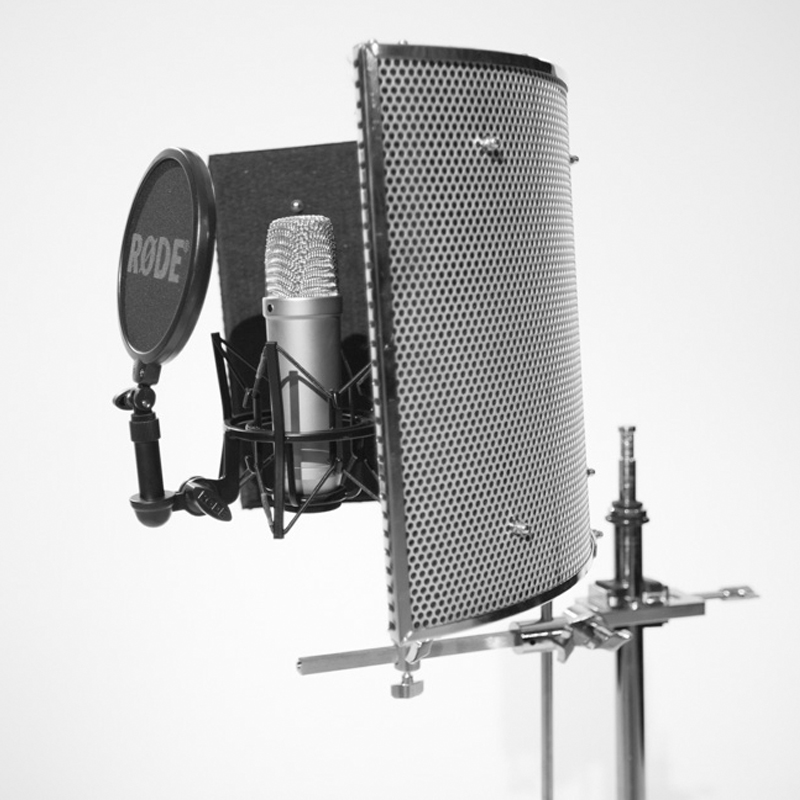 reflexion filter vocal booth with rode nt1 a microphone slvision london. Black Bedroom Furniture Sets. Home Design Ideas