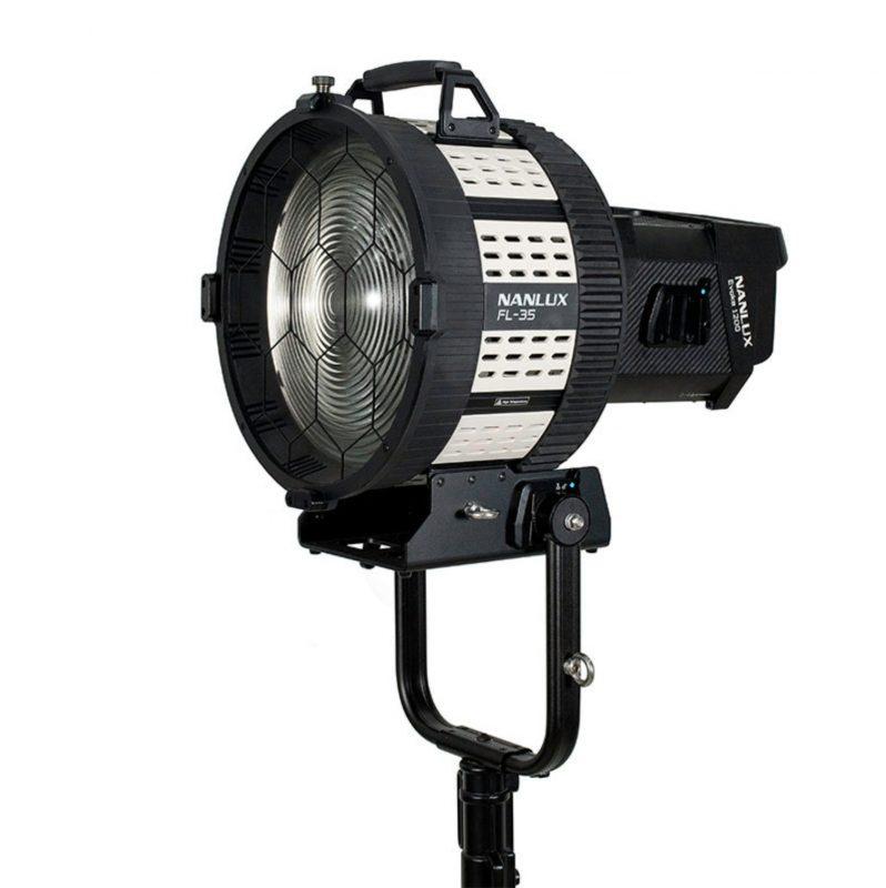 Nanlux Evoke 1200W LED Light + Fresnel Lens hire london